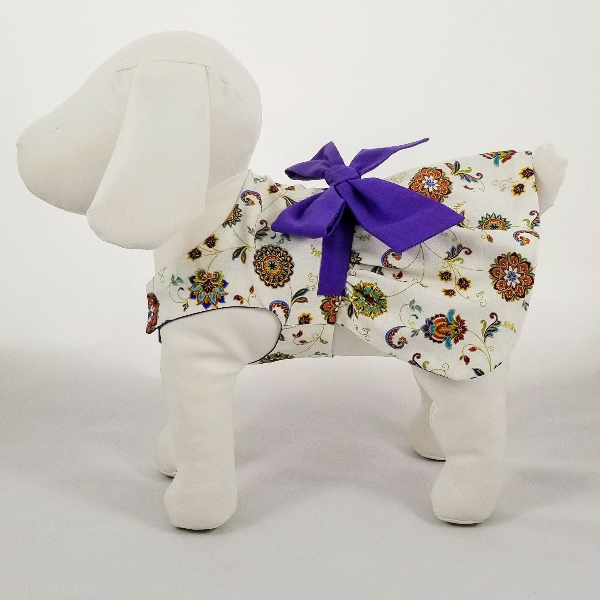 I'm offering a discount! Dog dresses, Purple bows, Dog