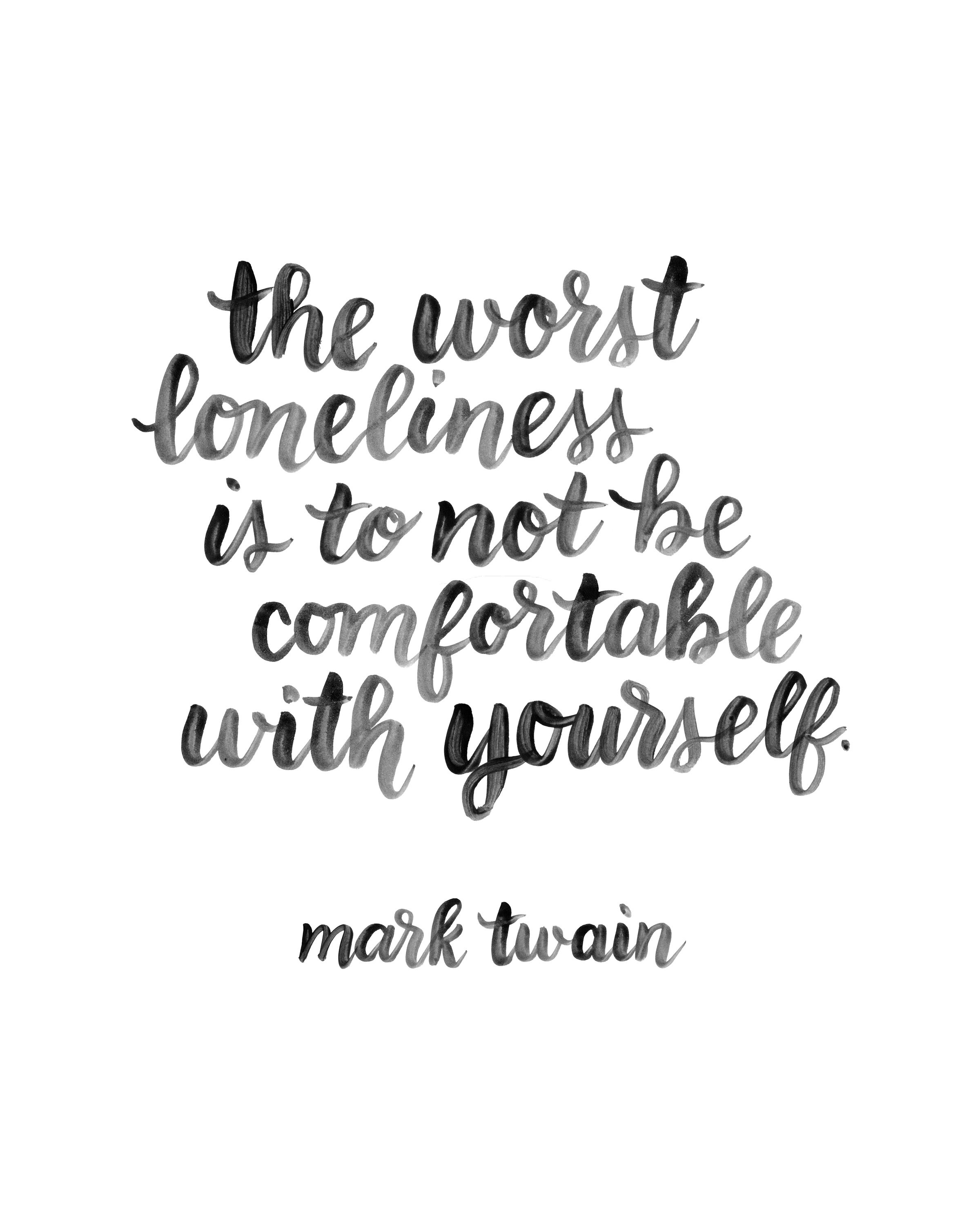 Presents for You: Brush Lettered Mark Twain Quote | Random Olive ...