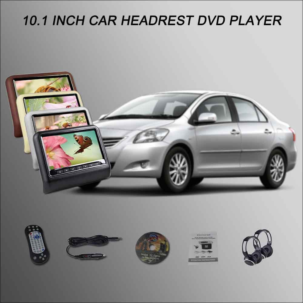 Car Headrest Monitor 2101 Digital Screensupport Usb Sd Dvd Nissan Wiring Harness Player Games Remote Control For Toyota Vios 4 Color Optional