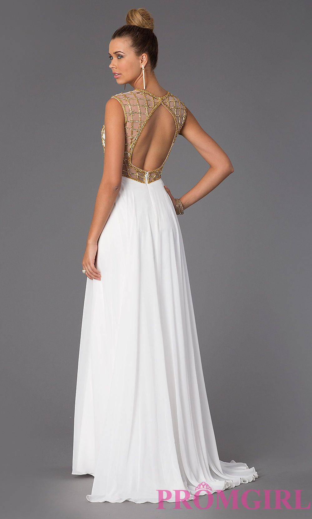 Image Of High Neck Floor Length Prom Dress Style Cd 1103 Front