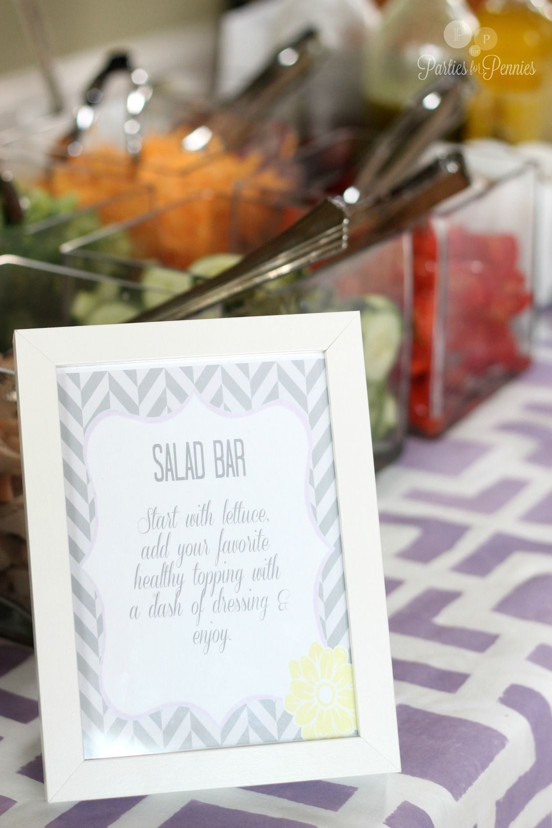 Salad Bar for Purple Gray u0026 Yellow