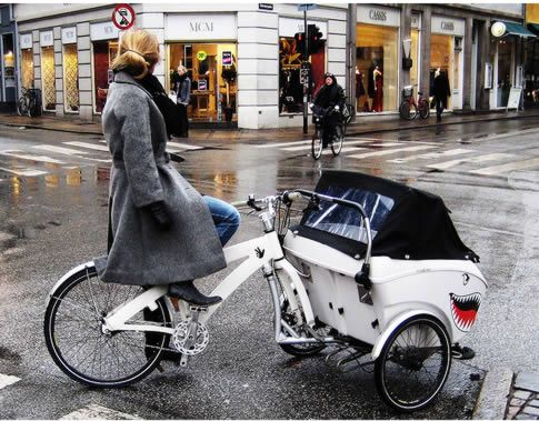TrioBike V2 : innovative cargo bike, that can transform itself into a regular bike and a stroller