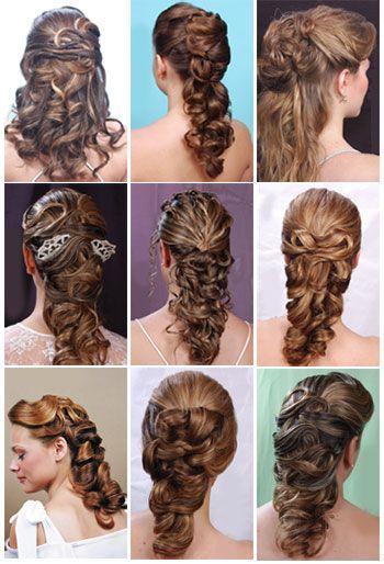 Peinados Semi Cogidos Peinados Juveniles Con Trenzas Cabello Con Rulos Peinados Para Boda