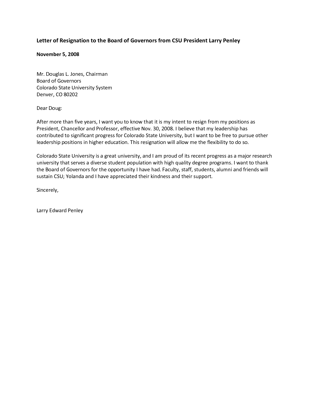 Resignation Letter Format Non Profit Board Meeting Minutes Sample