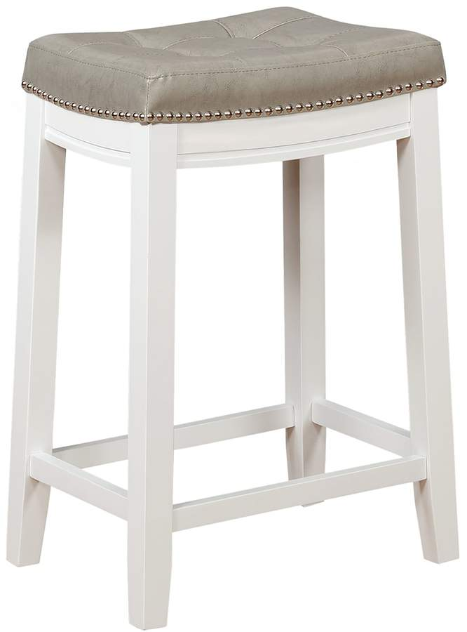 Linon Allure Tufted Backless Counter Stool Counter Stools Backless Kitchen Counter Stools Counter Stools