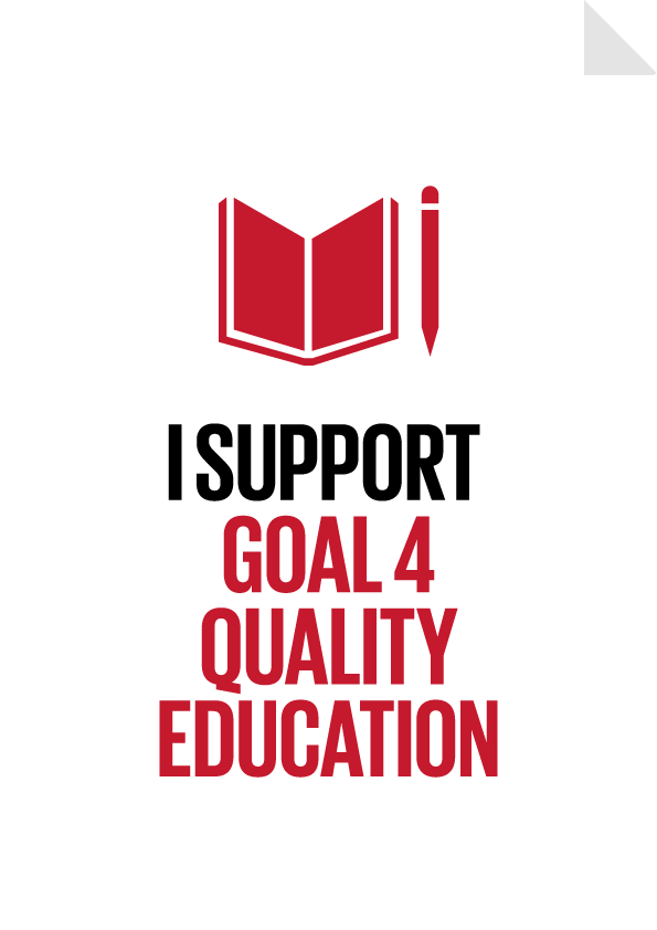 Goal 4 Quality Education Poster Preview   I SUPPORT GLOBALGOALS ...
