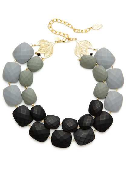 Multicolor Bead Double Strand Necklace by David Aubrey at Gilt
