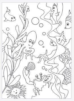 Under The Sea Coloring Page Ocean Coloring Pages Animal Coloring Pages Free Coloring Pages