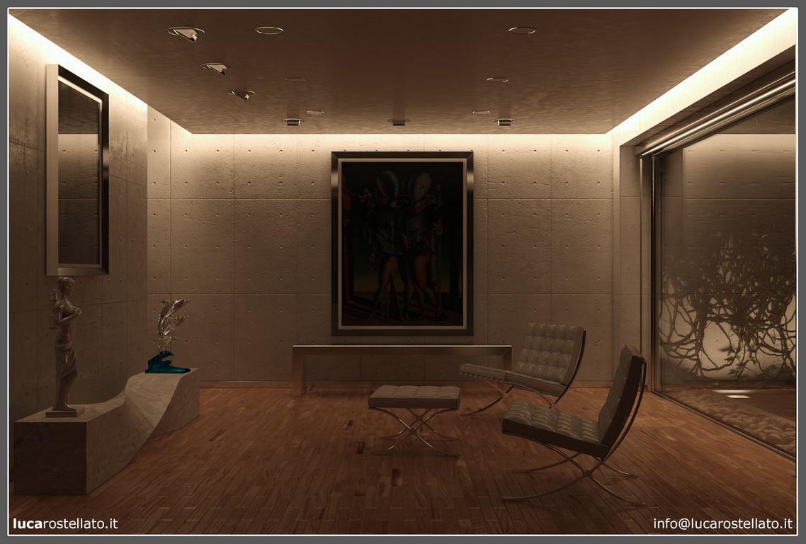 Illuminazione Salone Con Led simulare le sorgenti artificiali con 3d studio max design