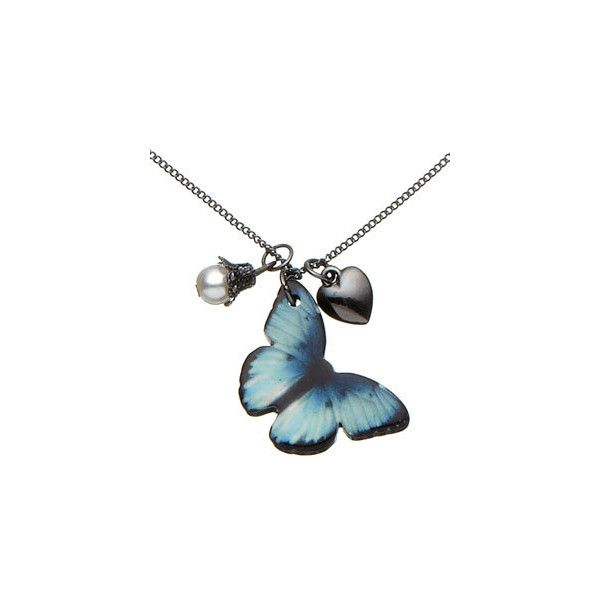 Enchanted Butterfly Pendant Necklace ($7.32) ❤ liked on Polyvore featuring jewelry, necklaces, accessories, butterflies, joias, jewellerypendants, women, monarch butterfly jewelry, butterfly pendant necklace and butterfly necklace