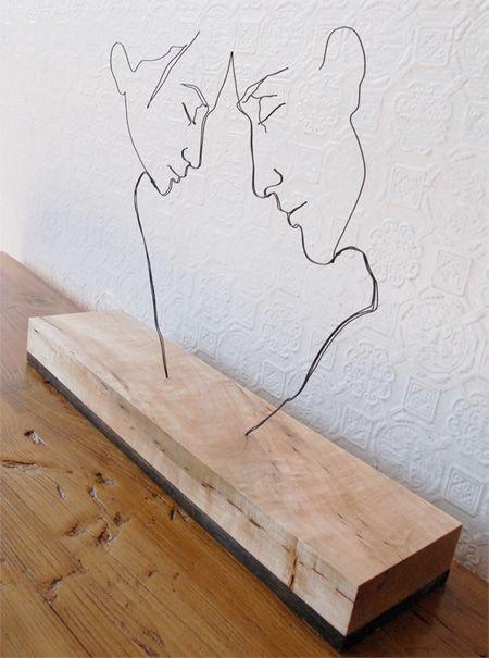 Gavin Worth - Steel Wire Sculpture.