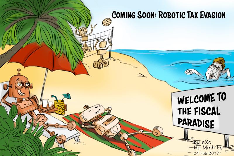 Bill Gates Proposes Compensating For Job Losses Adding A Tax On Robots Digital Transformation Cartoon Proposal