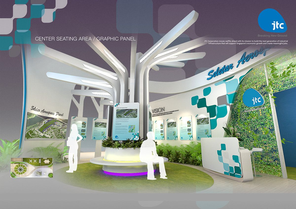 Exhibition Booth Design Singapore : Jtc singapore airshow on behance idea design