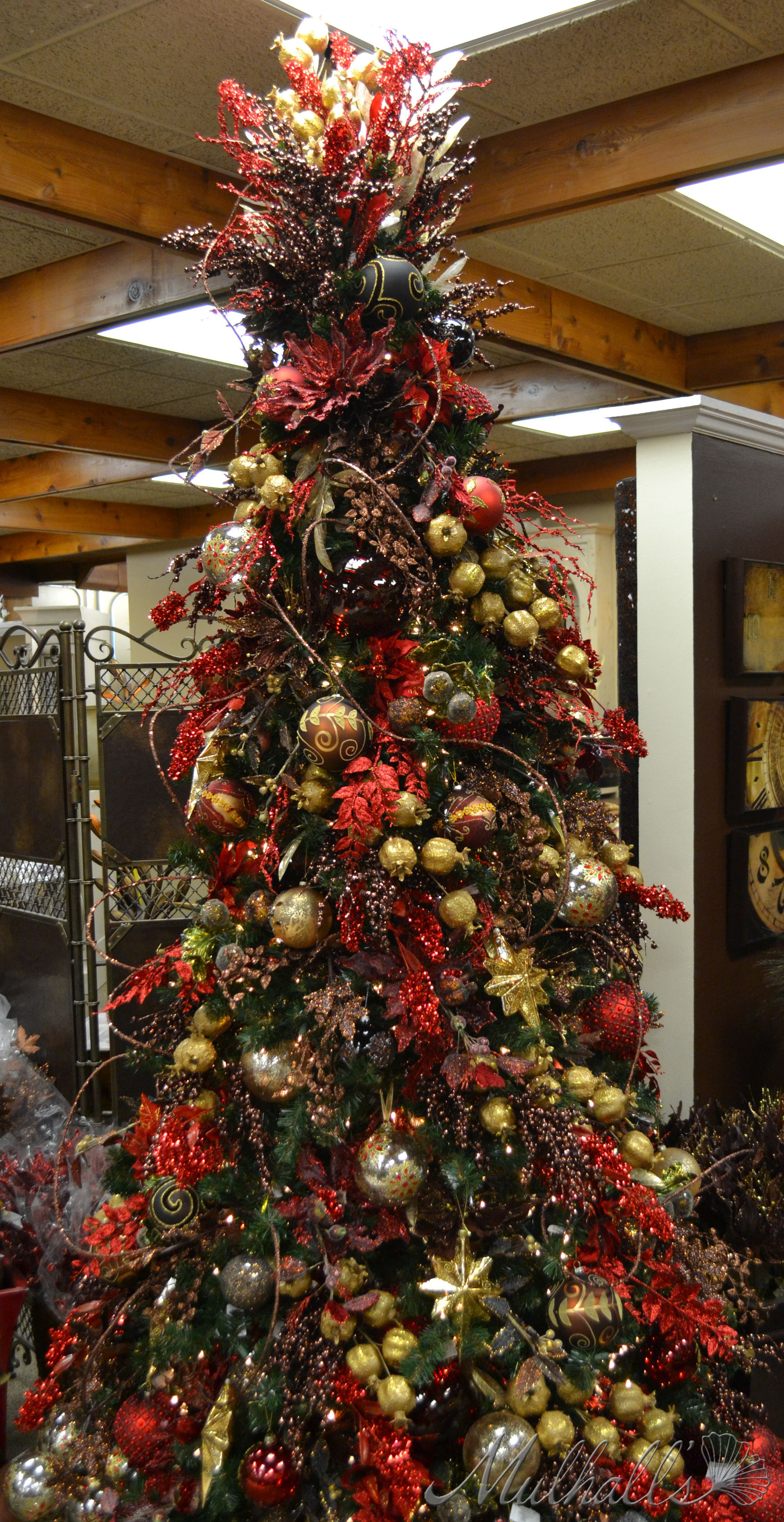 Christmas tree decorations red and green - Red Chocolate Themed Christmas Tree Not Sure I Am In Love With The Red And Chocolate Color Scheme But It Is A Lovely Site On Its Own Merit