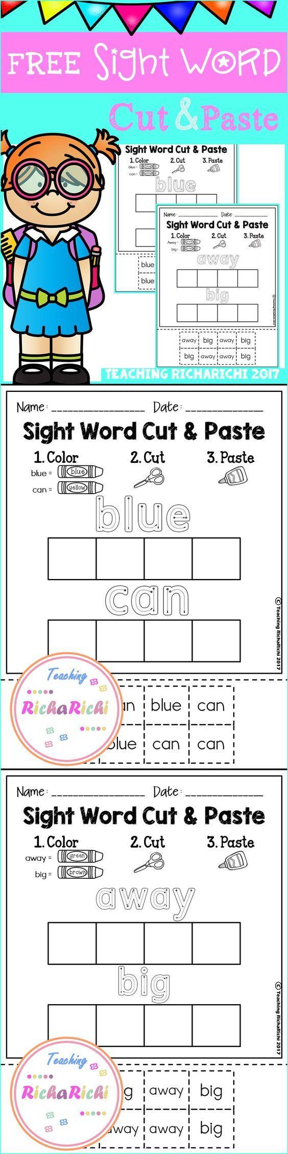 Free Kindergarten Activities Free Pre K Activities Free First Grade Activities Pre K Kindergarten 1s Sight Words Kindergarten Sight Words Kids Sight Words