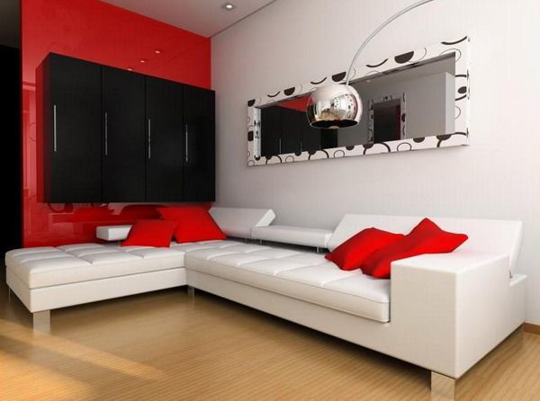 100 Best Red Living Rooms Interior Design Ideas  Red Living Simple Red And Black Living Room Decorating Ideas Decorating Inspiration