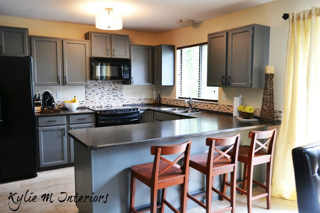 Best Cabinets Painted Gray Painted Wood Oak Kitchen Cabinets 400 x 300