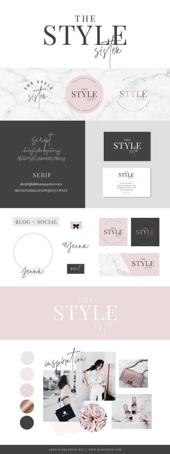 Logo Design Logos Blog Header Brand Kit Branding Pack Etsy Business Card Logo Blog Header Brand Kit