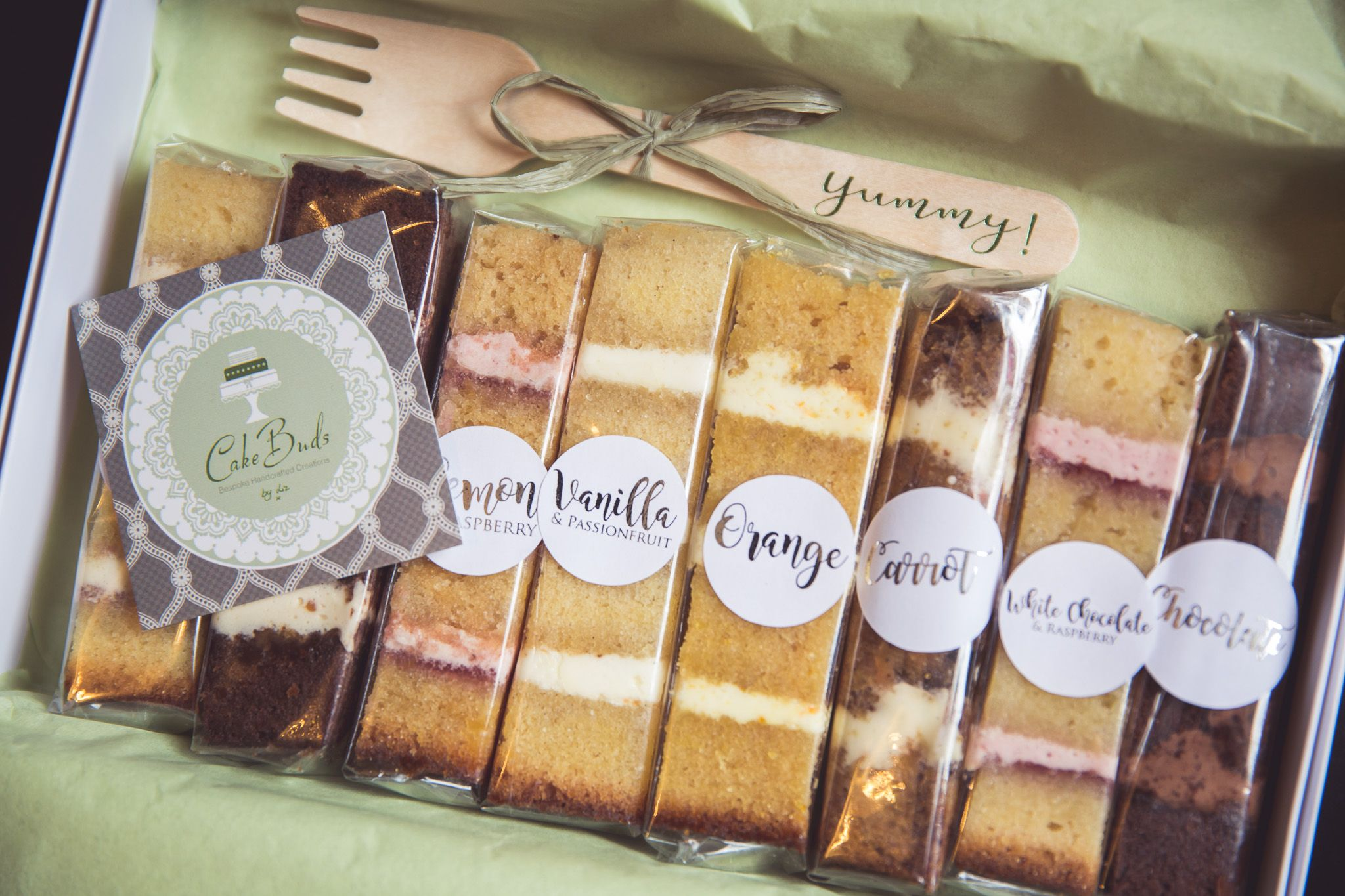 Cakebuds wedding cake sample boxes are perfect if you can