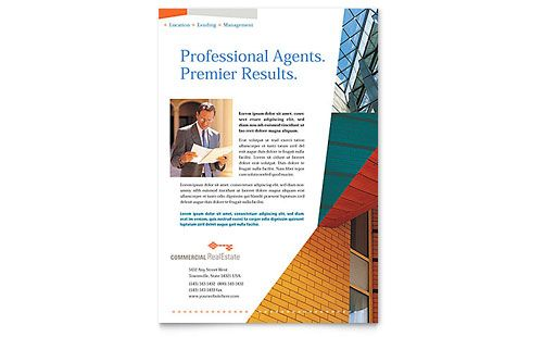 commercial real estate property flyer microsoft office template