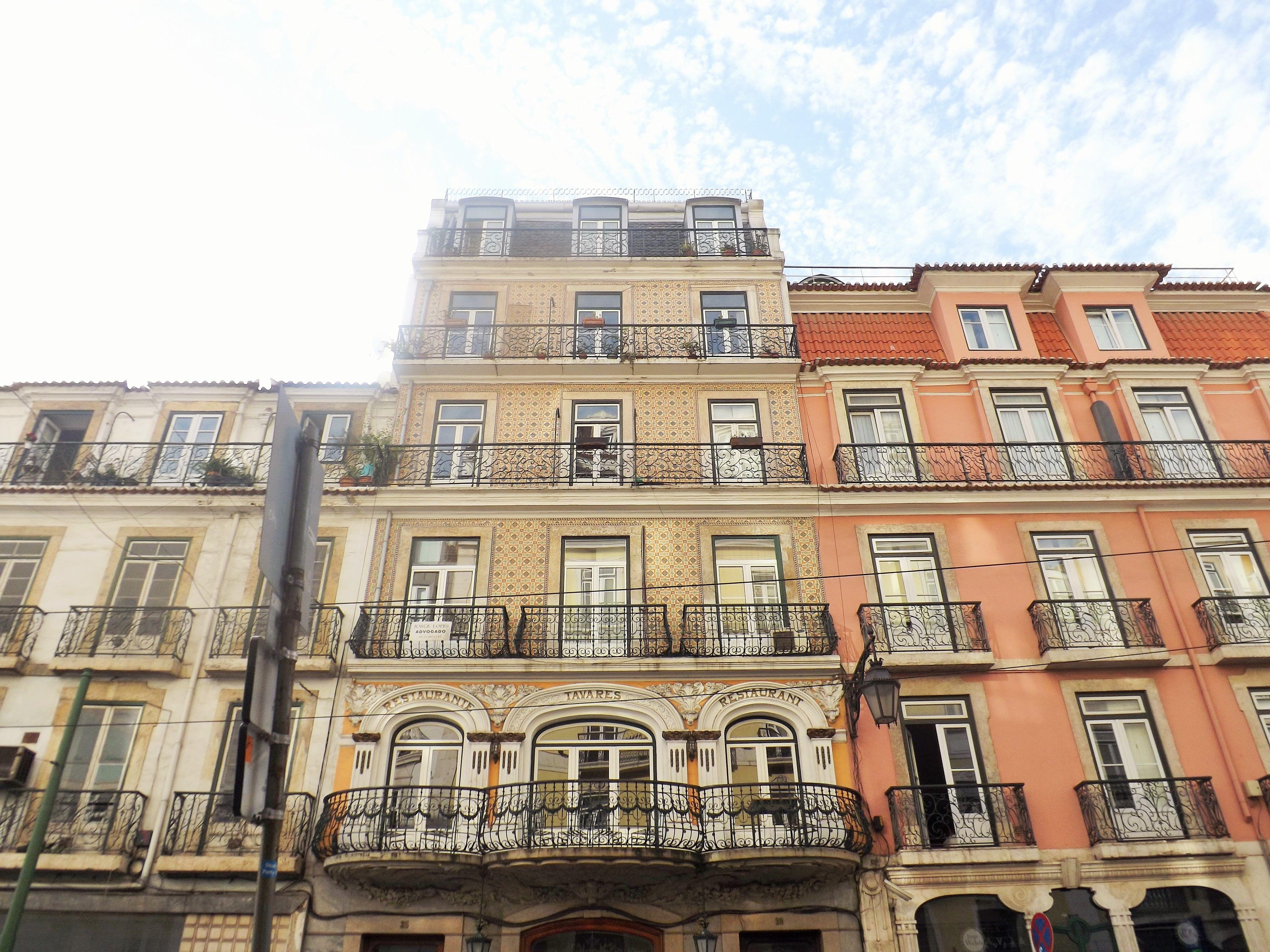 Fachadas de edifícios lisboetas, Lisboa, Portugal