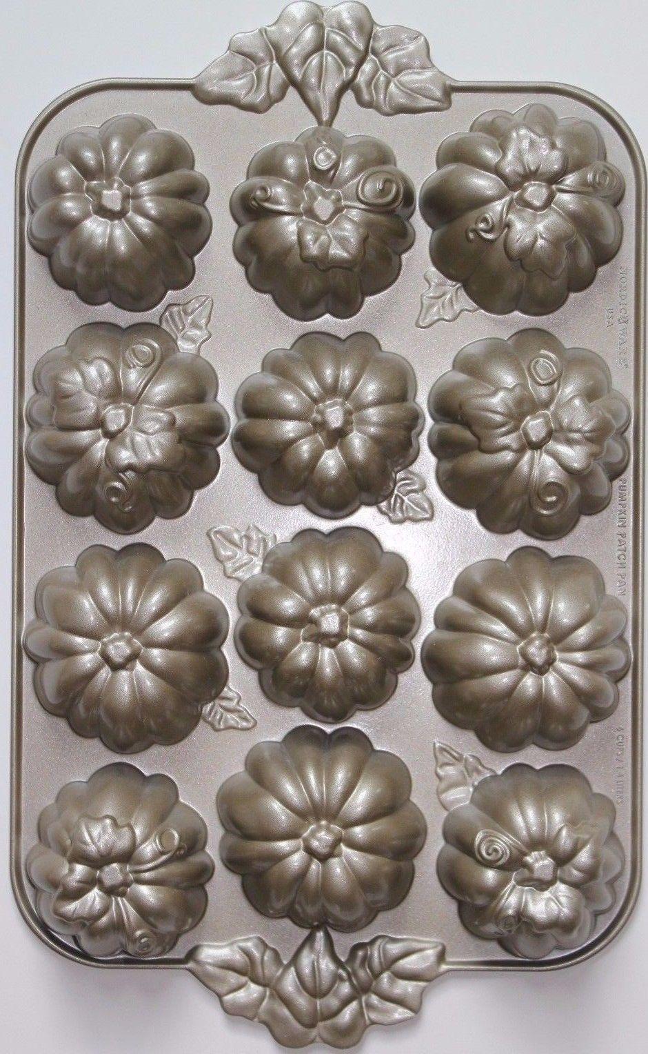 Nordic Ware Pumpkin Patch Cake Muffin Cupcake Pan Fall
