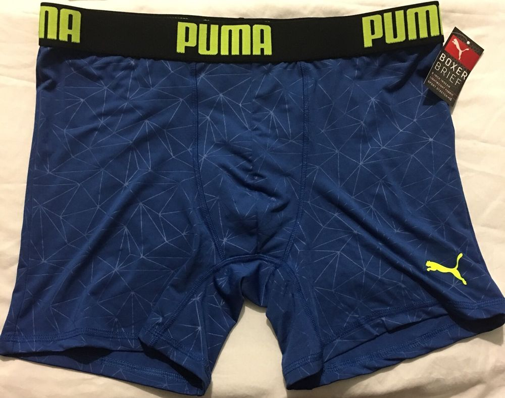 Puma Boxer Briefs Size Xl Blue Yellow 22 Athletic Gift Sexy