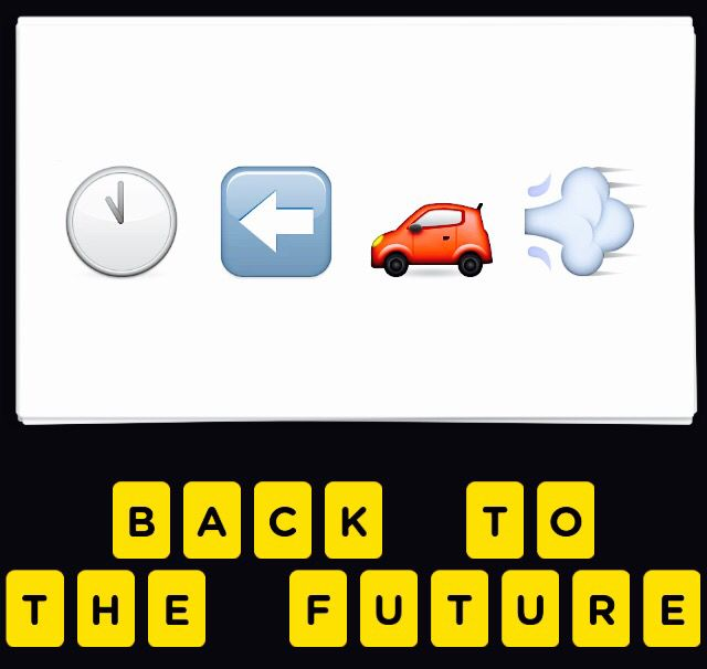 Back To The Future Smiley Just Had To Pin This From The Emoji Game I Play Back To The Future Emoji Games This Or That Questions
