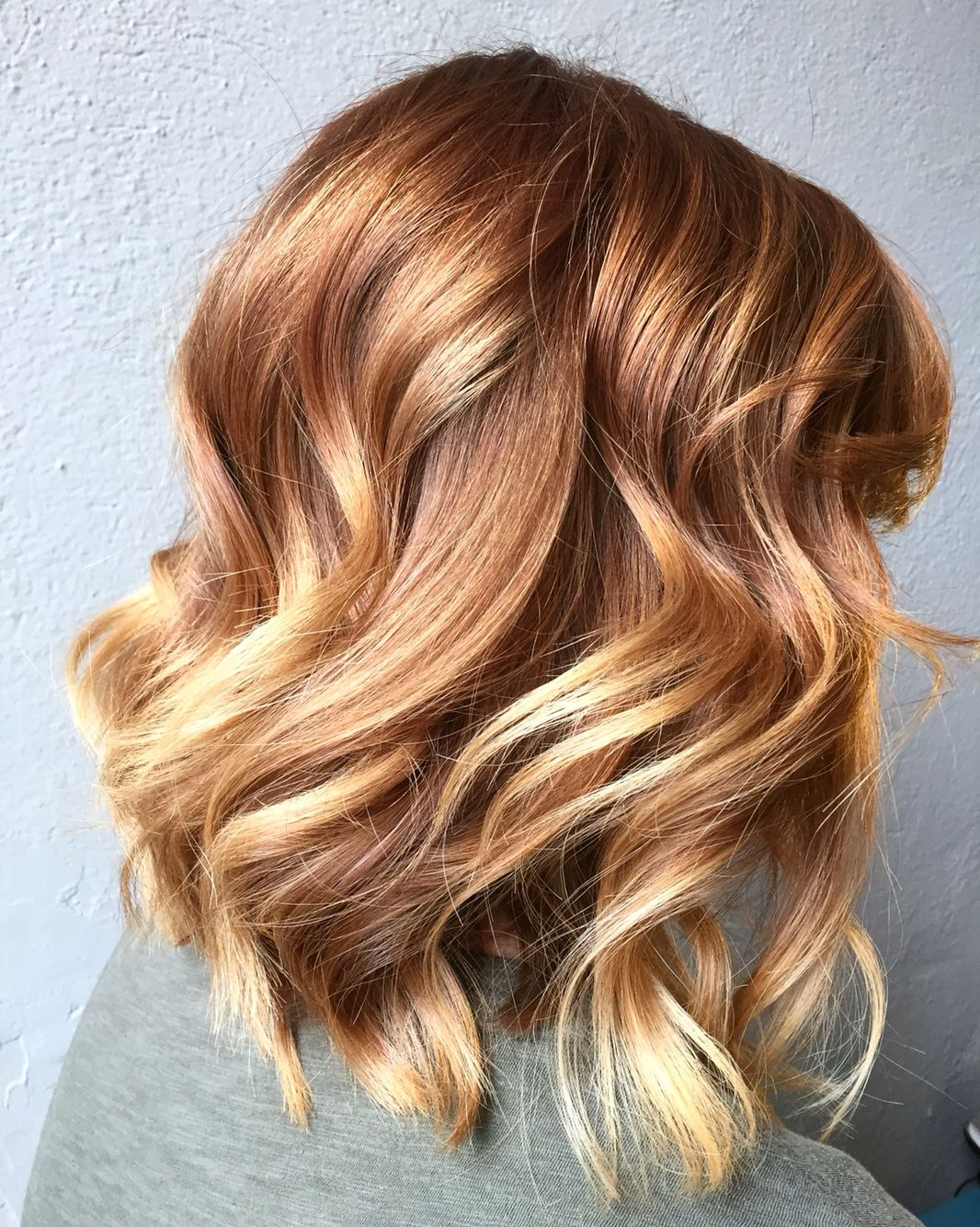 light copper to blonde balayage hair colors cut and styles by sara pecora haar ideen. Black Bedroom Furniture Sets. Home Design Ideas