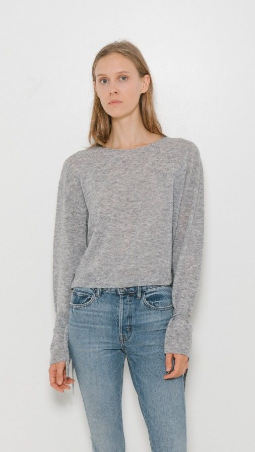 c29712aa Merino Crop Sweater | style | Cropped sweater, Sweaters, Helmut lang