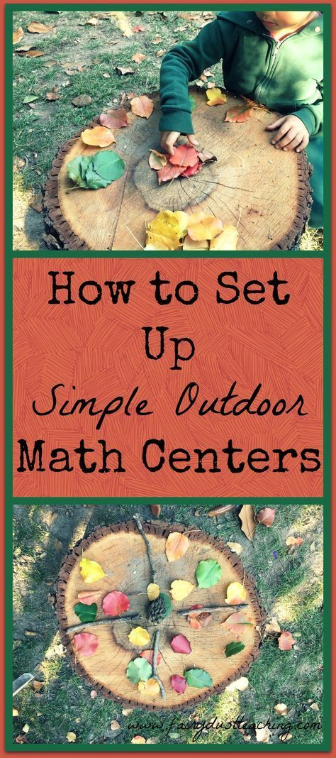 How to Set-Up A Simple Outdoor Math Center