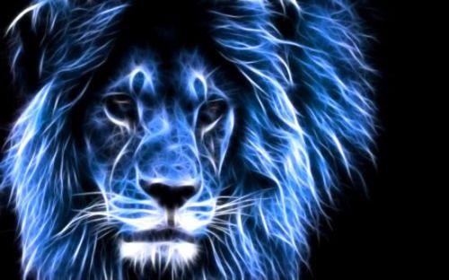 Fractal Blue Lion Lion Wallpaper Lions Photos Blue Lion