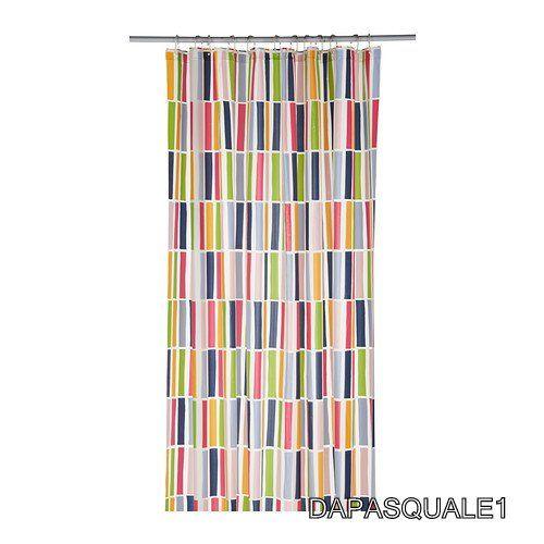 IKEA+NIDELVA+-+Shower+Curtain+Stripe+Multicolor+71+x+71+NEW | New ...