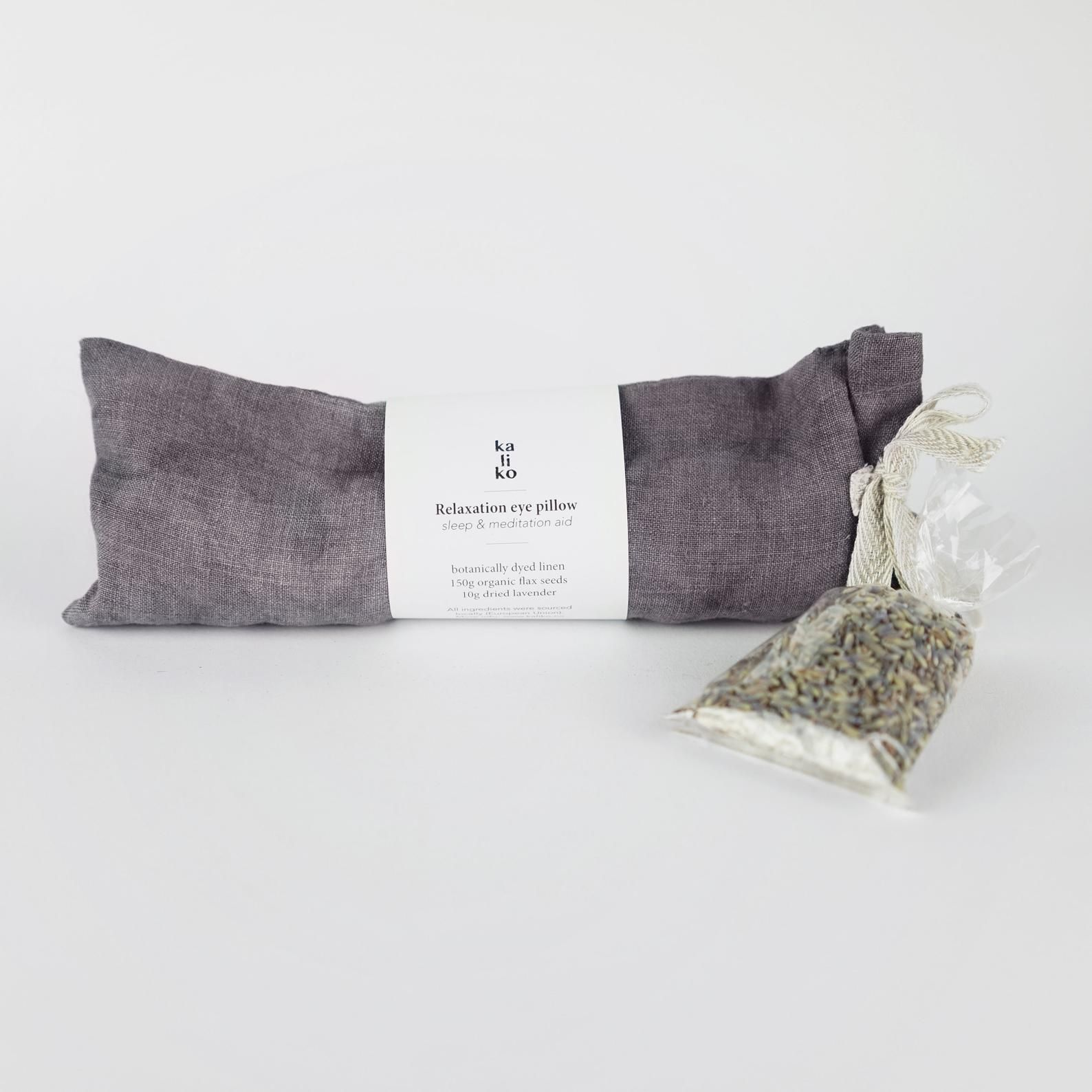 Relaxation Eye Pillow Flax And Lavender Sleep And Meditation Aid 4th Year Anniversary Washable Aromatherapy Linen Bag Botanical Dye Eye Pillows Eye Bags Lavender Scent