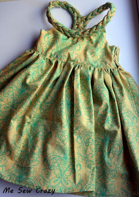 Braided Little Girl's Dress... - The Girl Creative   Linda I pinned this one for you