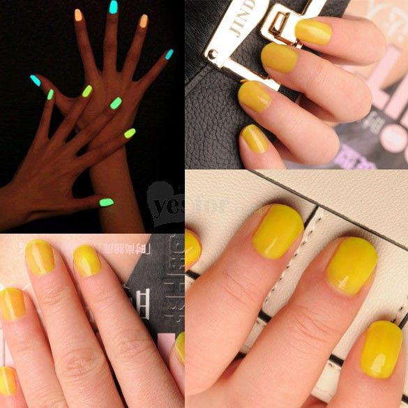 Fluorescent Neon Nail Polish Art Glow in Dark Lacquer Nail Varnish ...