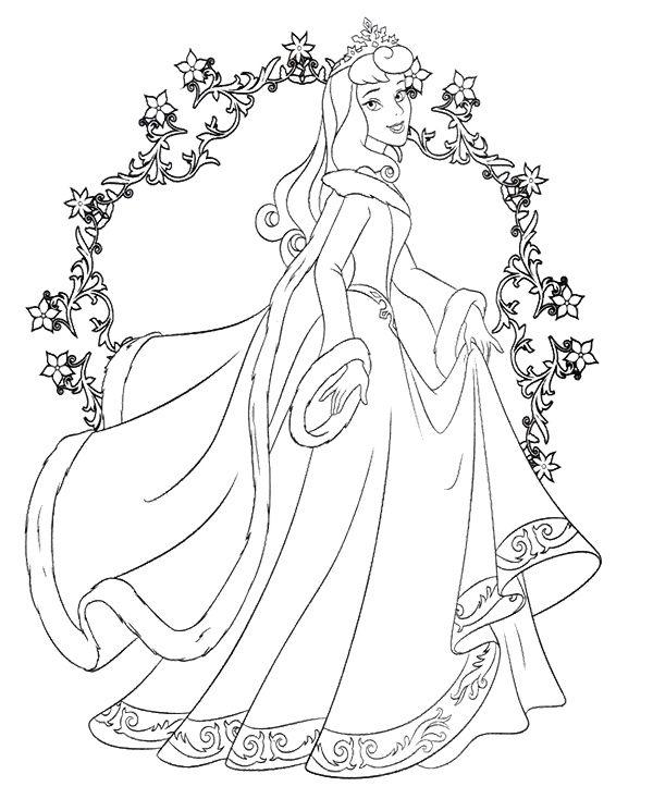 Happy Princess Christmas Day Coloring Page | DISNEY NAVIDAD Y MAS ...