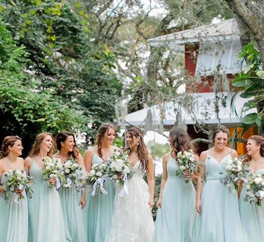 Mori Lee Bridesmaids In The Color Seaglass Available At