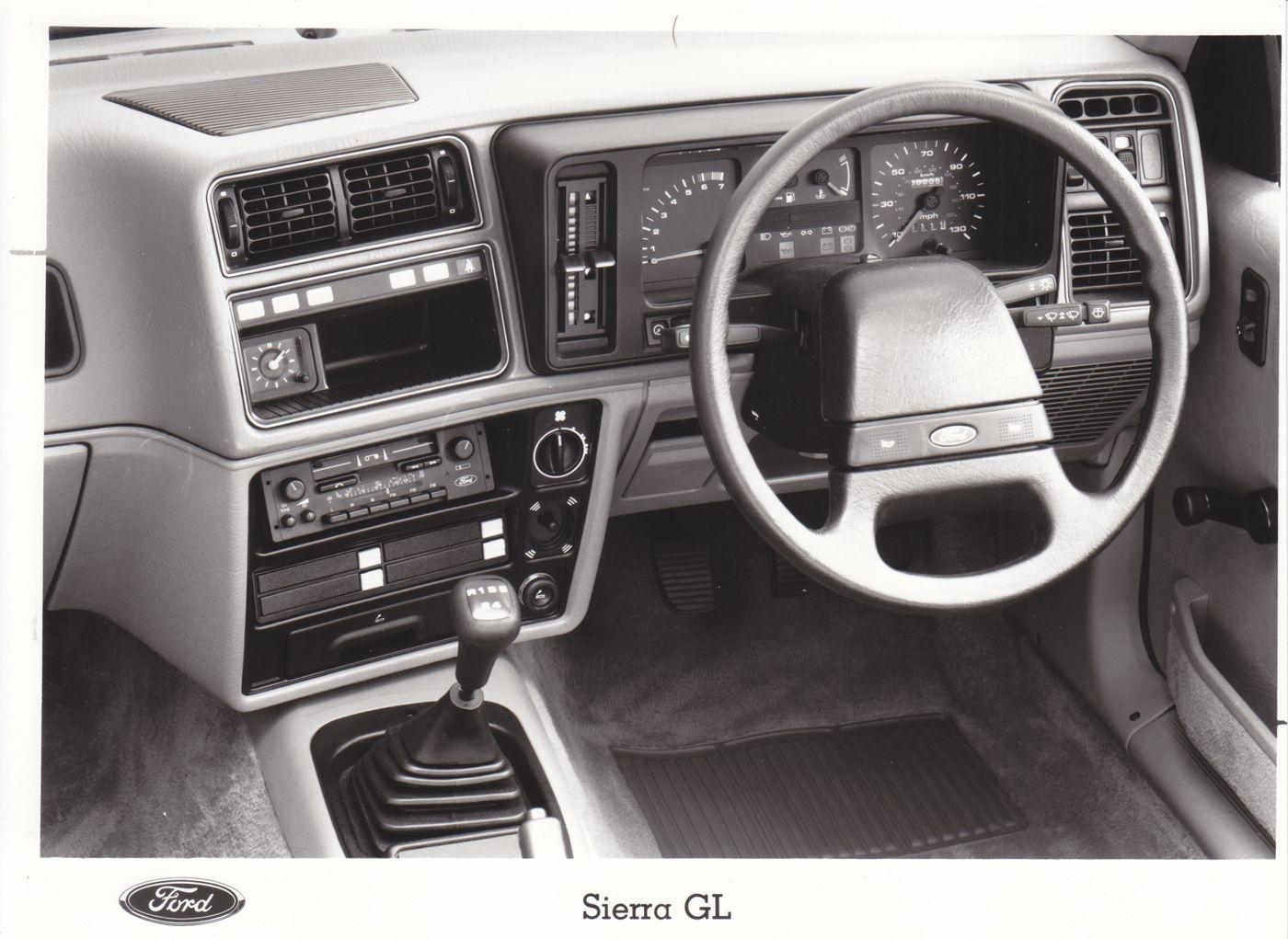 Ford Sierra Gl Dashboard Uk 1985 Factory Press Photo Ford