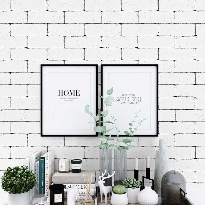 Vintage White 3d Brick Wallpaper Nordic Waterproof Wall Paper Roll For Shop Bar Background Walls Contact Paper Carta Da Parati Wallpapers Aliexpress White Brick Wallpaper Brick Wallpaper Contact Paper Wall