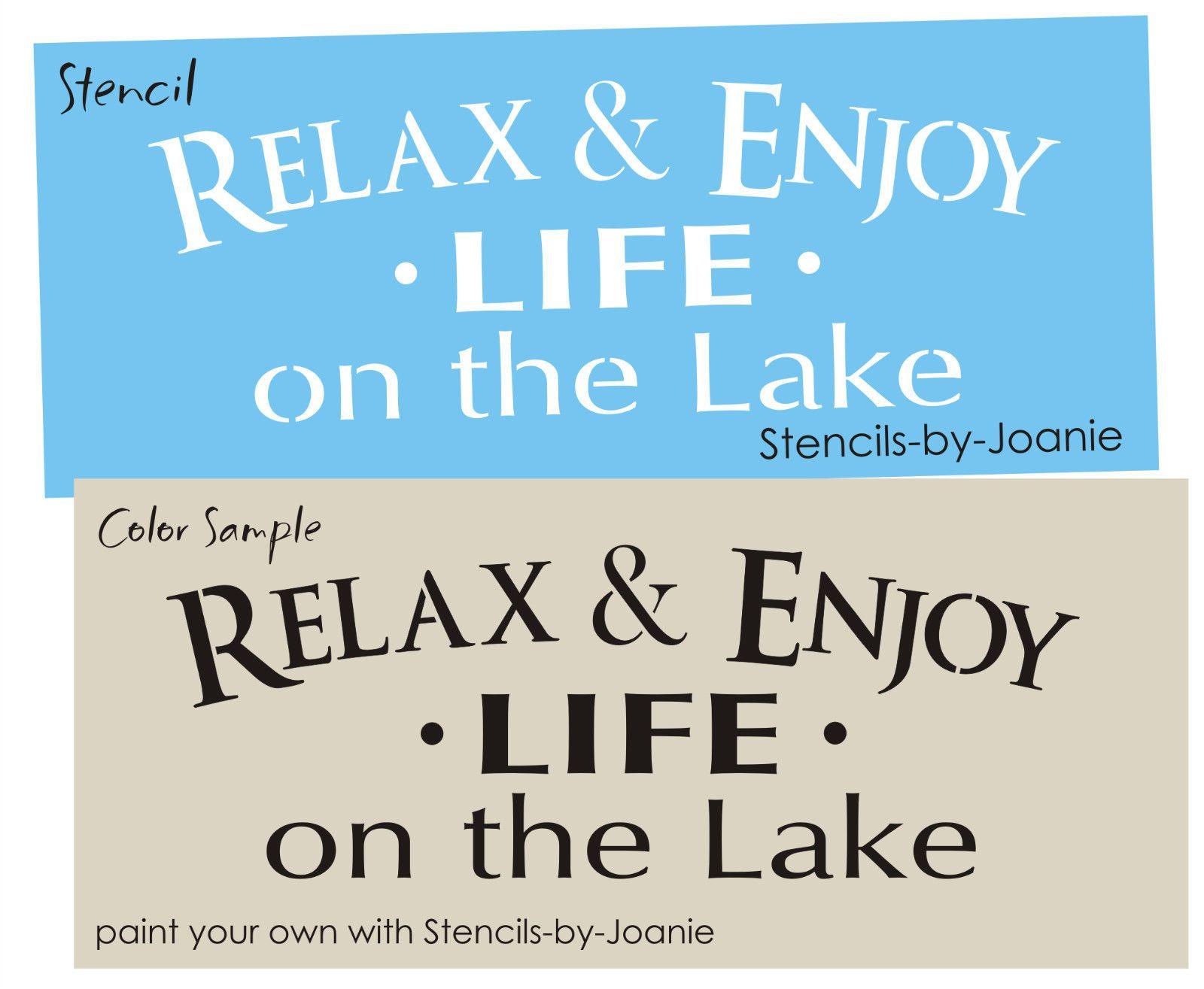 Stencil Welcome Lake Dragonfly Swirls Lake House Mountain Cabin Art Yard Signs