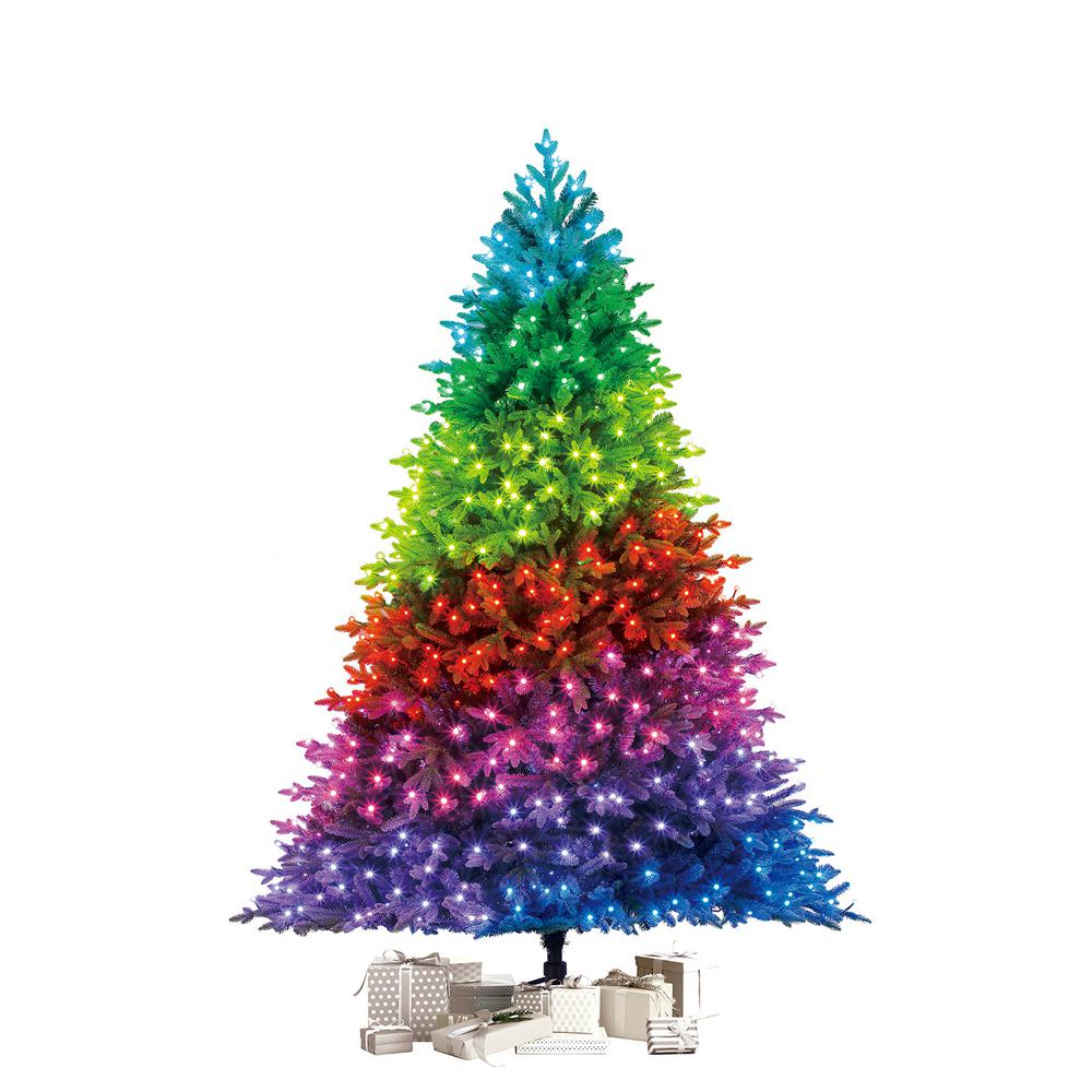 Twinkly 7 5 Ft Pre Lit Led Swiss Mountain Spruce Artificial Christmas Tree With 600 Tw Christmas Tree Shop Artificial Christmas Tree Led Color Changing Lights