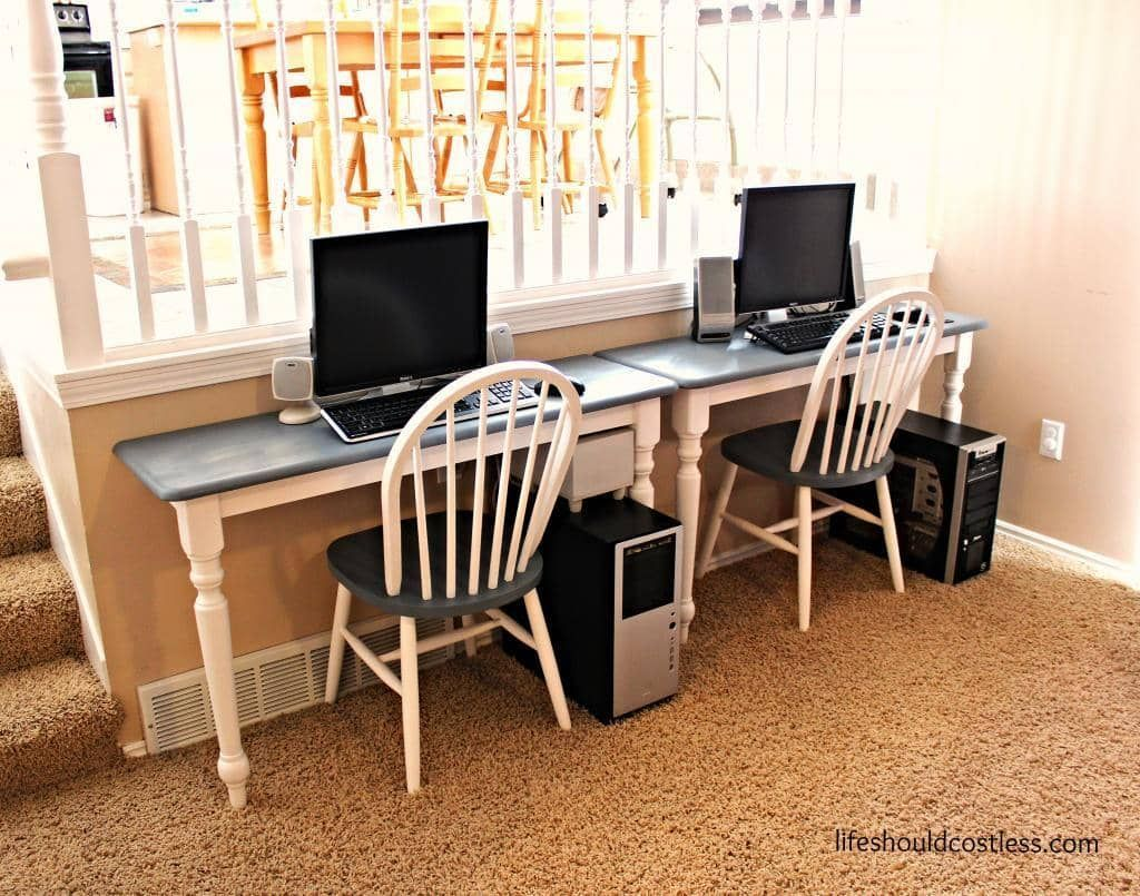 45 Best Two Person Desk Design Ideas For Your Home Office Workspace Kids Computer Computer Room Kids Computer Desk