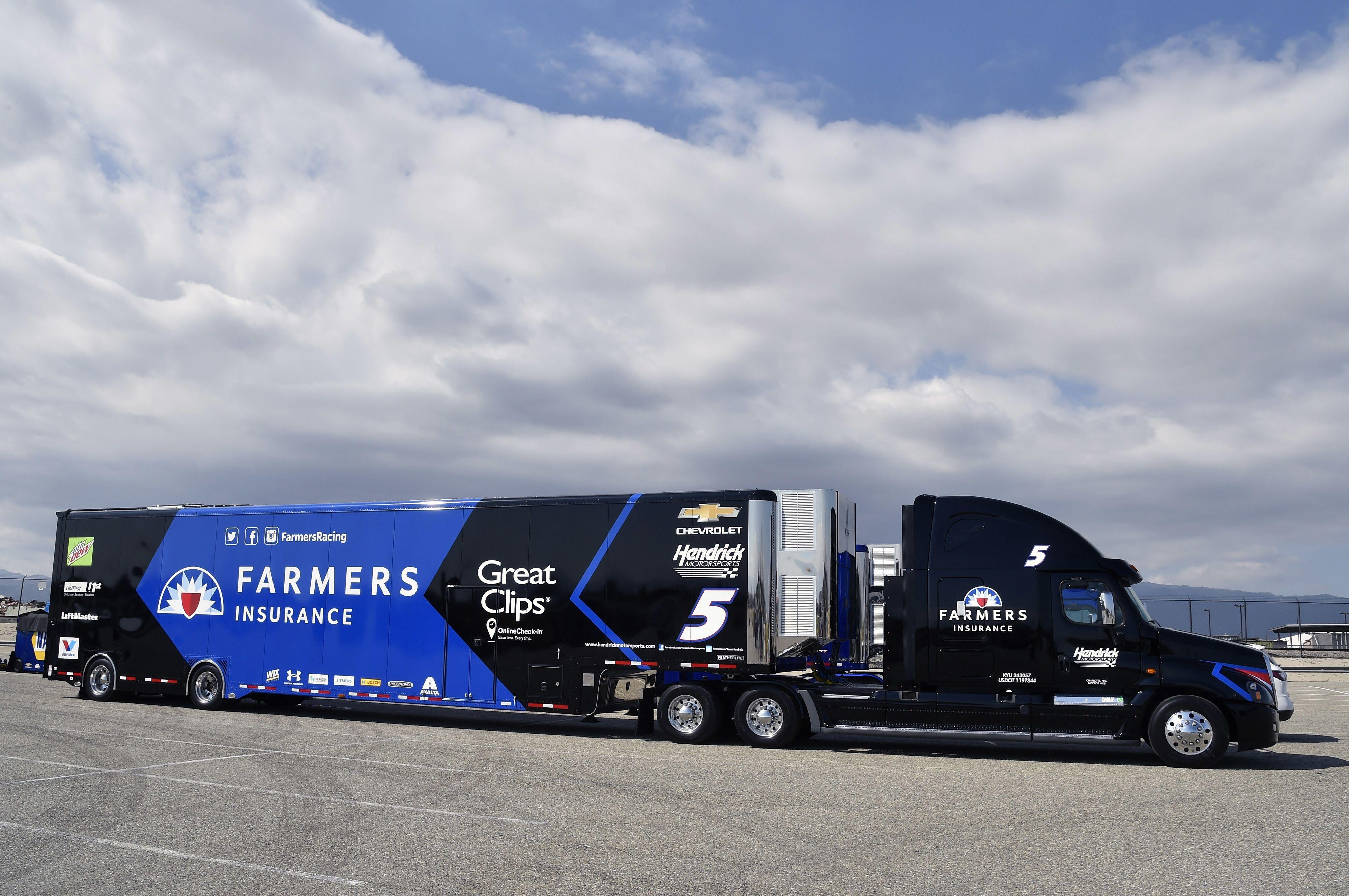 Freightliner hauler nascar transporter farmers