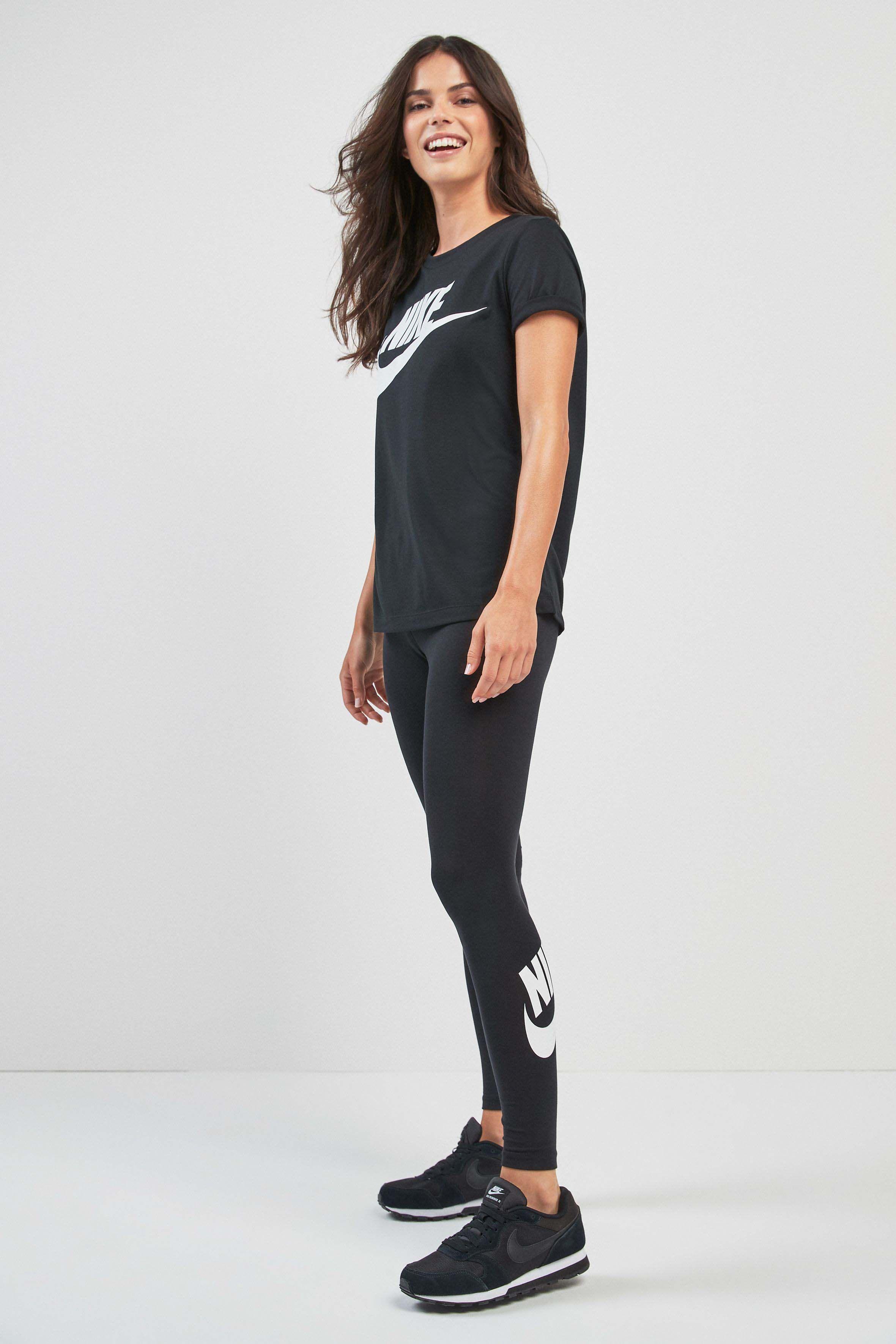 7ff49628e7ca Womens Nike Black Legasee High Waisted Tight - Black