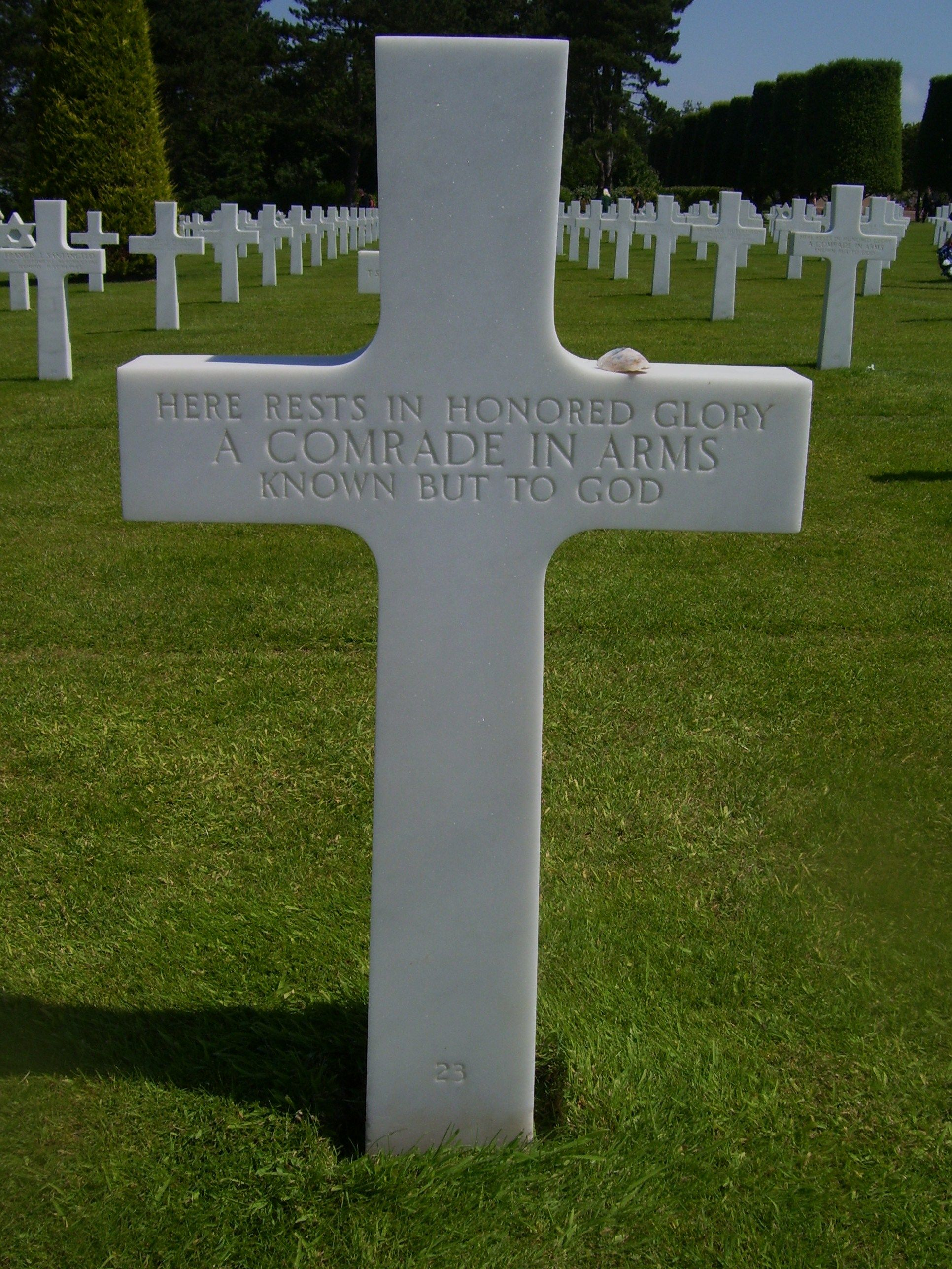Normandy American Cemetery, Omaha Beach