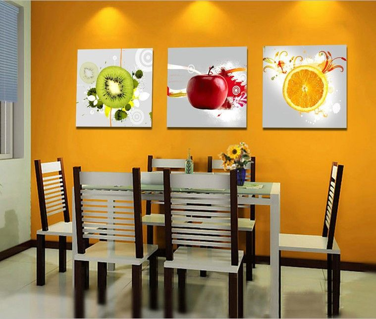 Aliexpress Com Buy 3 Panels Wall Art Kitchen Decorative Fruit Painting Printed Modern Can Fruit Kitchen Decor Kitchen Wall Hangings Modern Kitchen Wall Decor