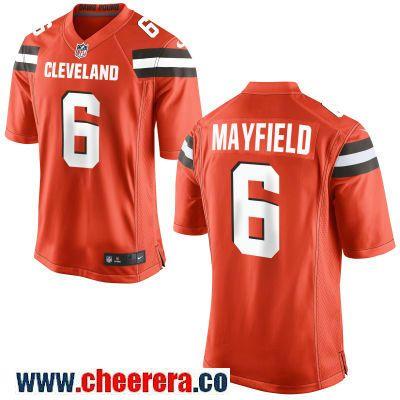 d1dcff5ec34 Men s Cleveland Browns  6 Baker Mayfield Orange Alternate Stitched NFL Nike  Game Jersey