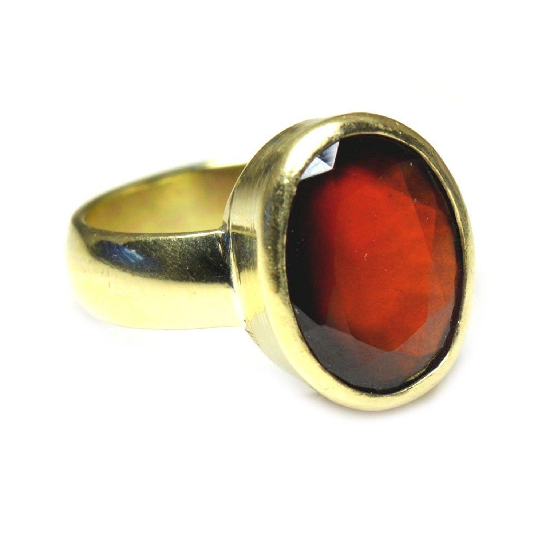 55Carat 4.5 CT Natural Gemstone Emerald Panchdhatu Alloy Ring For Men & Women fhlbDMgT4