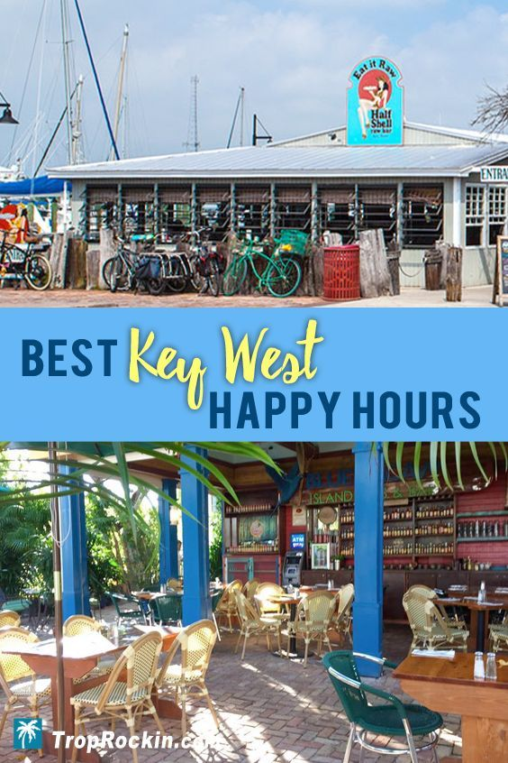 Best Key West Happy Hour Deals for Food & Drinks. Save money on your Key West Vacation with these great deals on cocktails and appetizers.